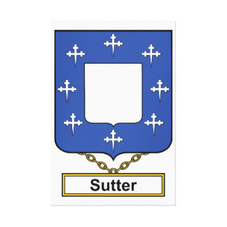 Sutter Family Crest Stretched Canvas Print