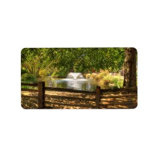 Sutter Fort Garden Custom Address Label