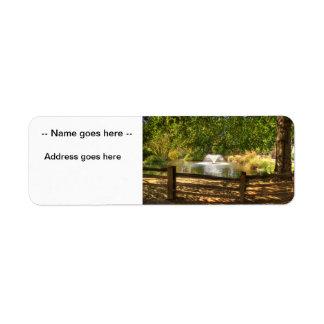 Sutter Fort Garden Return Address Label
