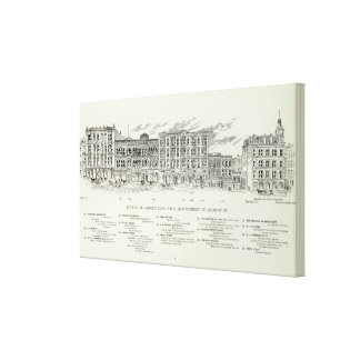 Sutter North side Montgomery and Kearny Canvas Print