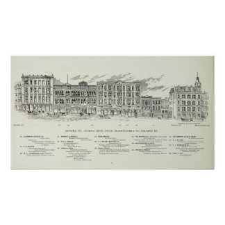 Sutter North side Montgomery and Kearny Print