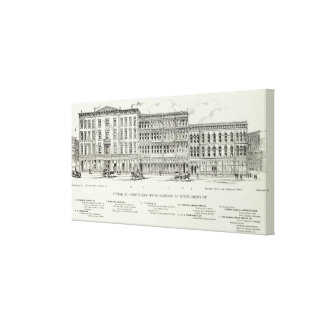 Sutter North side Sansome and Montgomery Canvas Print