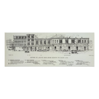 Sutter South side Kearny and Grant Print
