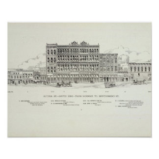 Sutter South side Sansome and Montgomery Print