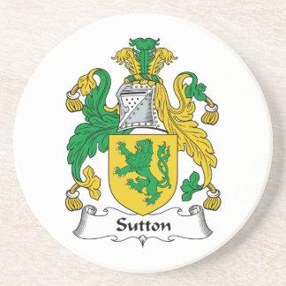 Sutton Family Crest Coaster