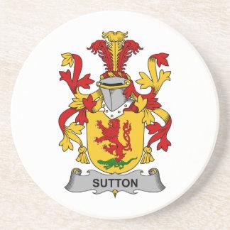 Sutton Family Crest Beverage Coaster