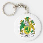 Sutton Family Crest Keychain