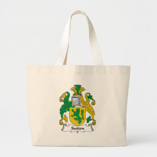 Sutton Family Crest Large Tote Bag