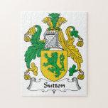 Sutton Family Crest Puzzles