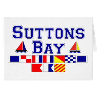 Suttons Bay, MI - Nautical Flag Spelling Card