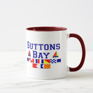 Suttons Bay, MI - Nautical Flag Spelling Mug