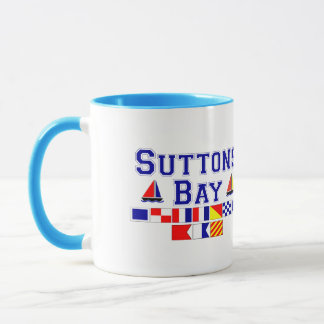 Suttons Bay, MI - Nautical Flag Spelling Mug