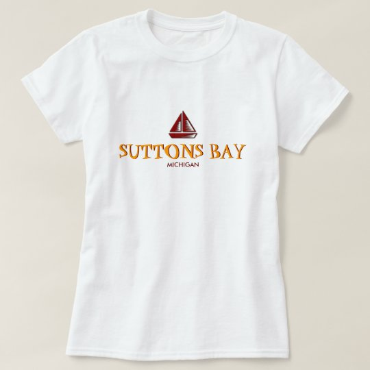 SUTTONS BAY, MICHIGAN, Ladies Baby Doll (Fitted) T-Shirt
