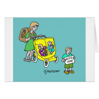 SUV Baby Carriage Greeting Card