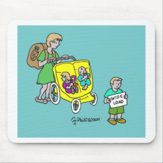SUV Baby Carriage Mouse Pad