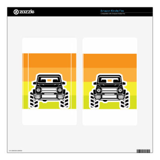 SUV Front Kindle Fire Decal