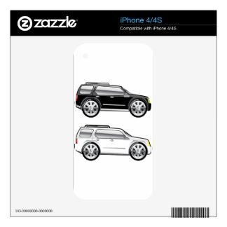 SUV grande stylized con vector grande de los iPhone 4 Calcomanías