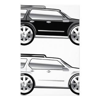 SUV grande stylized con vector grande de los Papelería Personalizada