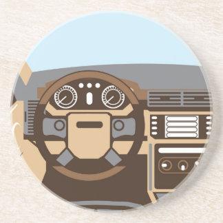 SUV Interior vector Drink Coaster