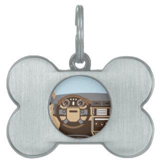 SUV Interior vector Pet Name Tag