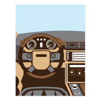 SUV Interior vector Postcard