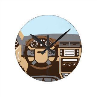 SUV Interior vector Round Clock