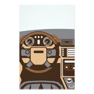 SUV Interior vector Stationery