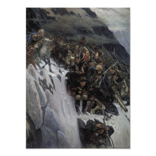 Suvorov Crossing the Alps Print