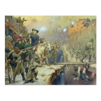 Suvorov crossing the Devil's Bridge in 1799, 1880 Postcard