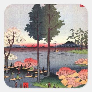 Suwa Bluff in Nippori (日暮里諏訪の台) Square Sticker