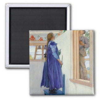 Suzanne Decorative Painting on Wall Magnets
