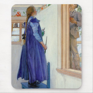 Suzanne Decorative Painting on Wall Mouse Pad