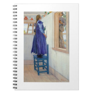 Suzanne Decorative Painting on Wall Notebook