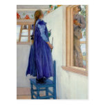 Suzanne Decorative Painting on Wall Postcard