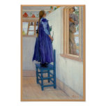 Suzanne Decorative Painting on Wall Poster