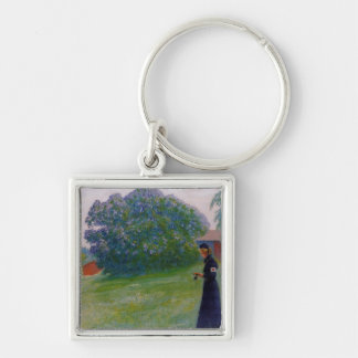 Suzanne in Red Cross Uniform Silver-Colored Square Keychain