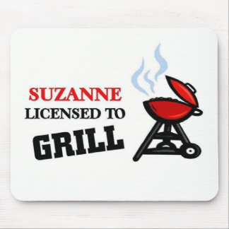 Suzanne licensed to grill mouse pad