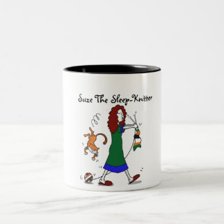Suze el Sueño-Calcetero Taza De Café De Dos Colores
