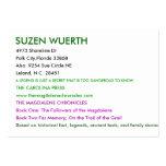 SUZEN WUERTH, el Dr. de 4973 líneas de la playa, Tarjetas De Visita Grandes