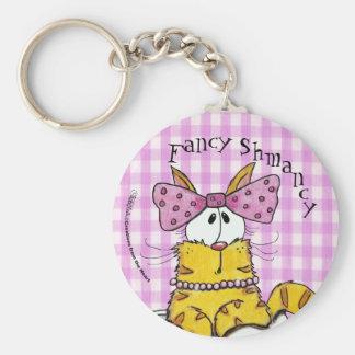 Suzette-Dainty Kitty Basic Round Button Keychain
