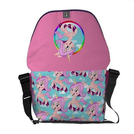 Suzi the happy Unicorn Courier Bag