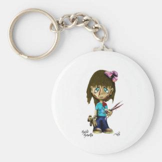 Suzie Sissors Basic Round Button Keychain