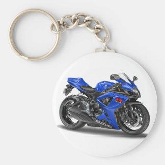 Suzuki GSX-R600 Blue Bike Basic Round Button Keychain