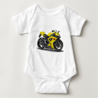 Suzuki GSX-R600 Yellow Bike Baby Bodysuit