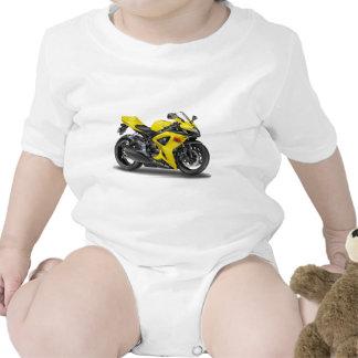 Suzuki GSX-R600 Yellow Bike Bodysuits