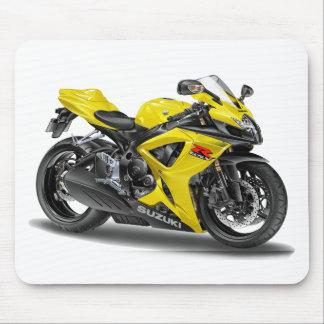 Suzuki GSX-R600 Yellow Bike Mouse Pad