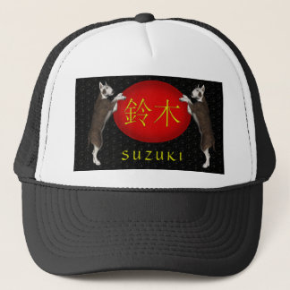 Suzuki Monogram Dog Trucker Hat