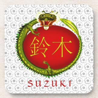 Suzuki Monogram Dragon Beverage Coaster