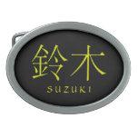 Suzuki Monogram Oval Belt Buckle