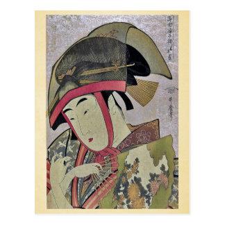 Suzume de Yoshiwara por Kitagawa, Utamaro Ukiyoe Tarjeta Postal
